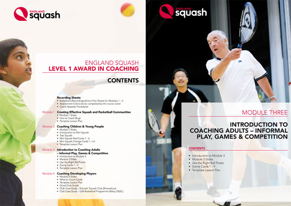 England Squash Level 1 Coaching book