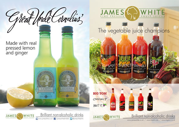James White Drinks adverts