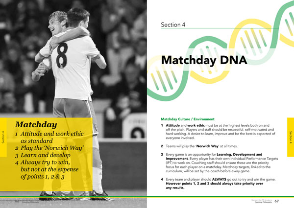 NCFC Academy Coaching Philosophy book