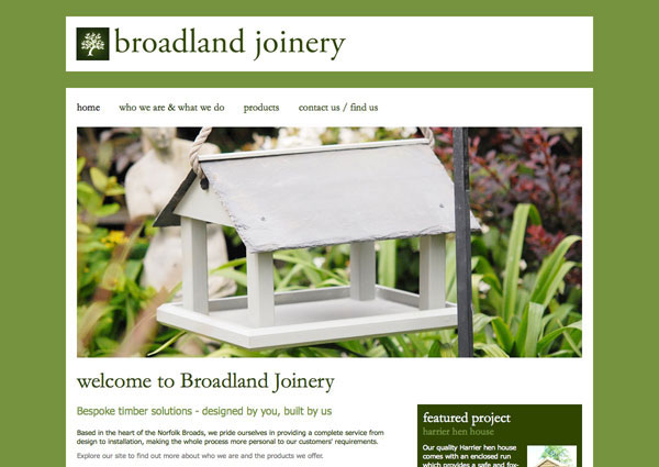 Broadland Joinery website