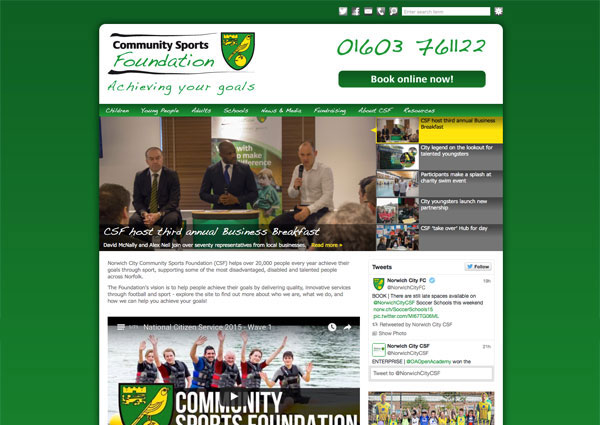 Norwich City CSF website