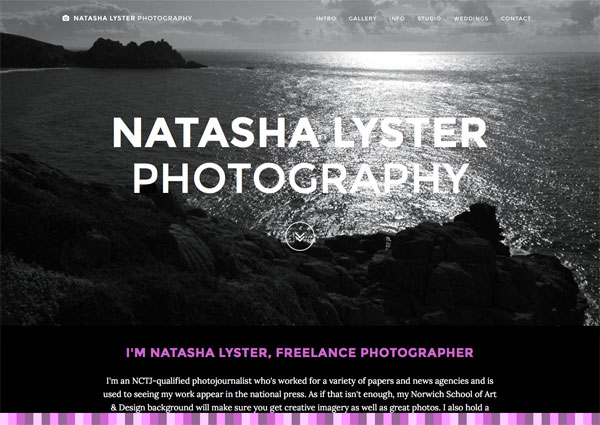 Natasha Lyster Photography website