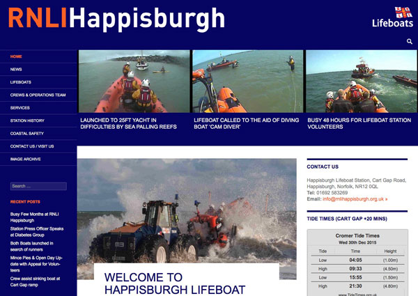 RNLI Happisburgh website